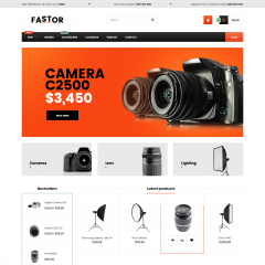 Opencart Fotoğrafçılık ve Kamera Malzemeleri Teması