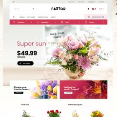 Opencart Hediye ve Çiçekçilik Teması