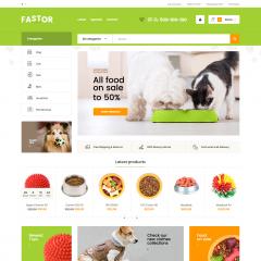 Opencart Petshop Hayvan Aksesuarları Teması