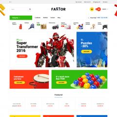 Opencart Çocuk Oyuncak Teması