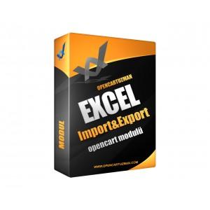 Opencart Excel Import ve Export Modülü Kullanımı