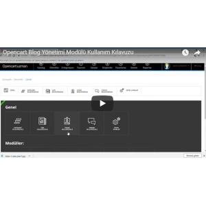 OpencartUzman Blog Yönetimi Modülü