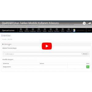 OpencartUzman Ürün Tabları Modülü