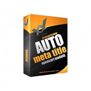 Opencart Auto Meta Title Modülü Kullanımı