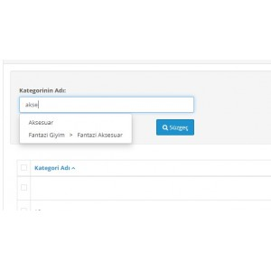 Opencart Kategori Filtreleme Modulü