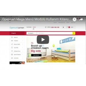 OpencartUzman Mega Menü Modülü