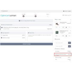 Opencart Ek Ücret & İndirim Modülü
