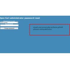 Opencart Şifre Resetleme Modülü
