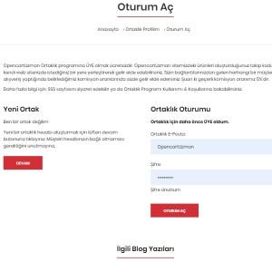 Opencart Ortaklık Programı