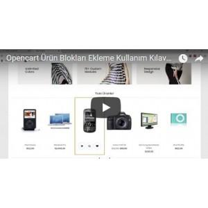 OpencartUzman Ürün Blokları Modülü